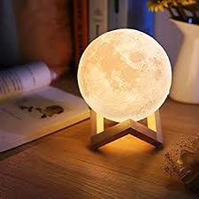 3d Lamps Amazon Extra Large 7 3 Inch Gahaya Moon Lamp 3d Printed Light Touch