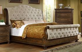 Tufted Sleigh Bed King Tufted Headboard Sleigh Bed One Thousand Designs