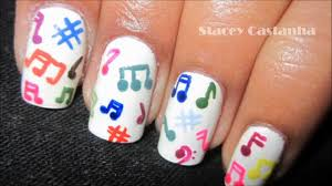 easiest music note nail art youtube