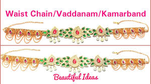 how to make silk thread bridal waist chain vaddanam kamarbandh