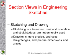section views drawing and sketching continued lecture 13b ppt