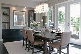 modern contemporary dining room chandeliers gray and beige color