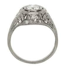 filigree engagement rings art deco dome filigree diamond platinum ring claude morady