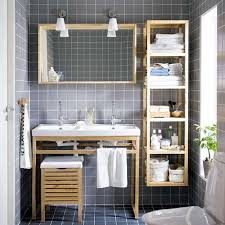 Glass Shelving For Bathrooms Bathroom Enviable Powder Room With Sood Shelving Units Also