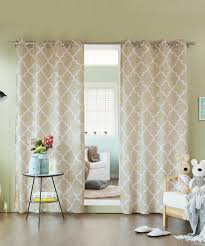 Moorish Tile Curtains Best Home Fashion Beige Moroccan Tile Curtain Panel Set Of Two