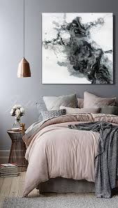 45x45inch black and white watercolour painting abstract print