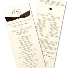 formal wedding programs 99 best lovely programs images on wedding programs