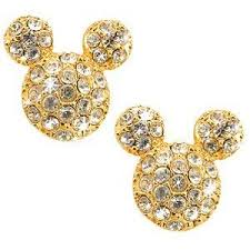 mickey mouse earrings pavé mickey mouse ears earrings by disney couture
