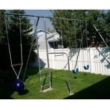 Flexible Flyer Backyard Swingin Fun Metal Swing Set Flexible Flyer Newcastle Metal Swing Set 6 Leg With Slide