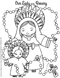 our lady of the rosary coloring page u2013 immaculate heart coloring pages