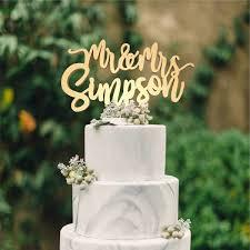 mr mrs cake topper wedding cake topper mr mrs personalised cake toppers