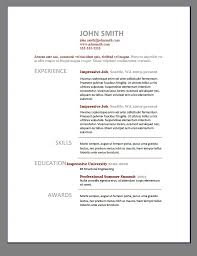 Free Resume Examples by Cool Free Resume Templates