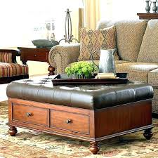 Leather Storage Ottoman Coffee Table Storage Ottoman Table Coffee Table Storage Ottoman With Tray