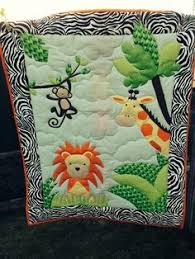 theme quilts monkey quilt painted on cotton for jungle by paintedquilts