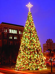 lighted christmas tree garland commercial christmas panel trees from 17ft to over 40ft tall