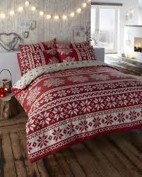 innsbruck flannelette scandinavian red double quilt duvet cover