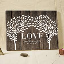 wedding tree guest book custom name date wedding tree guest book wood framed