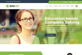 education one page template html css themes creative market