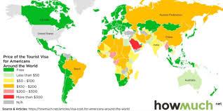 how much do visas cost around the world johnnyjet