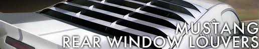 mustang rear louvers mustang rear window louvers cj pony parts