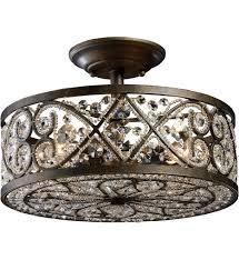 crystal semi flush mount lighting lighting semi flush mount lighting fixtures bronze with crystals