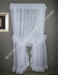 Criss Cross Curtains Sheer Wide Ruffled Priscilla Curtains Style 2830