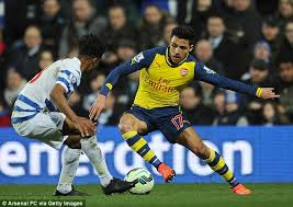 alexis sanchez vs qpr alexis sanchez is wasted on the wing he should be arsenal s no 10