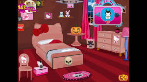 hello kitty halloween room decor full walkthrough youtube