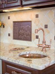 Copper Penny Tile Backsplash - mosaic tile backsplash trim