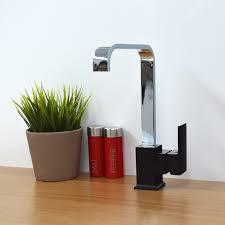 Designer Kitchen Tap by Enki Italian Designer Square Kitchen Sink Mixer Taps Black Brass