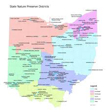 Map Ohio State by Preserve Map Ohio Natural Areas U0026 Preserves Association