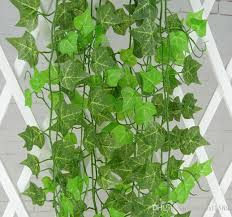 Flowers For Home Decor 2 4m Long Green Artificial Hanging Ivy Leave Plants Vine Foliage