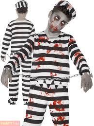 inmate halloween costume childrens zombie convict prisoner costume boys halloween fancy