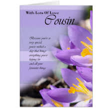 cousin birthday card cousin greeting cards zazzle
