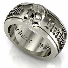 skull wedding rings ideas skull wedding rings my babys ring skull