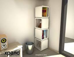 Bookcase System Interior Wall Shelf Rack System Stacking Shelving Units Shelf
