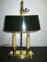solid brass ls antique vintage solid brass l with shade and baldwin brass finial l is