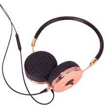 headband mp3 new fashion wired headband hifi headphones portable gold