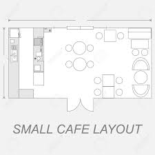 amazing idea small cafe floor plan design 3 illustration of layout