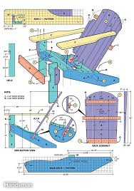 Adirondack Chairs Blueprints How To Build An Adirondack Chair Scale Drawings And Woodworking