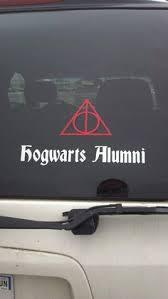 hogwarts alumni bumper sticker harry potter hogwarts honor student vinyl car truck laptop