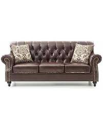 Tufted Faux Leather Sofa Get The Deal Lyke Tufted Chocolate Brown Faux Leather Sofa