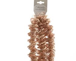 christmas tinsel luxury copper bronze spiral loop christmas tinsel garland tree