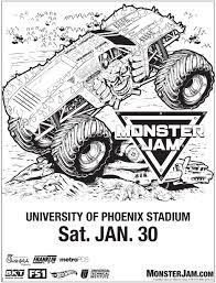monster jam coloring pages free printable archives for jam