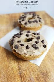 protein chocolate chip plantain donuts for two