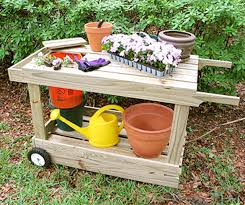 Free Wooden Potting Bench Plans by 10 Free Potting Bench Plans