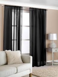 decorations stunning sheer black window curtains with white