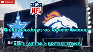Dallas Cowboys American Flag Dallas Cowboys Vs Denver Broncos Nfl Week 2 Predictions