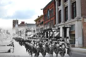 a glimpse of the past police parade on west high street