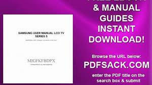 samsung user manual lcd tv series 5 video dailymotion